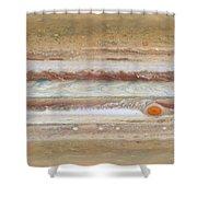 Flat Map Of Jupiter Shower Curtain