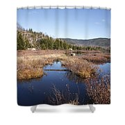 Flat Mountain Ponds - Sandwich Wilderness White Mountains Nh Shower Curtain