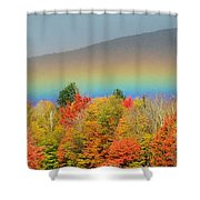 Flat Rainbow Shower Curtain