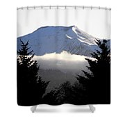 Flat Top Floating Through The Trees Shower Curtain