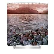 Flathead Lake 7  Shower Curtain