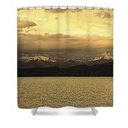 Flathead Lake Montana Shower Curtain