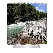 Flathead River Rapids Shower Curtain