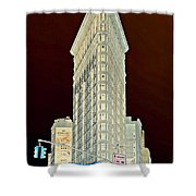 Flatiron Building Inverted Shower Curtain