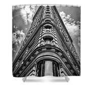 Flatiron Building  Nyc Black And White Shower Curtain
