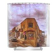 Flatiron Building Of Jerome Arizona Shower Curtain