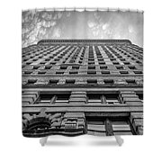 Flatiron Building Sky Black And White Shower Curtain