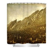 Flatiron Views  Boulder Colorado Shower Curtain