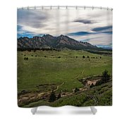 Flatirons From South Trails Shower Curtain