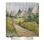 Flatirons In The Rockies Shower Curtain