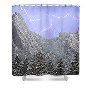 Flatirons Lightning Shower Curtain