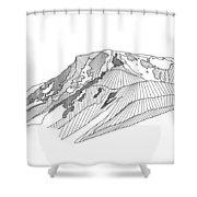 Flattop Mountain Shower Curtain