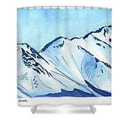 Flattop Through Ptarmigan Peak, Alaska Shower Curtain