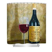 Flawless Red Original Wine Painting Shower Curtain