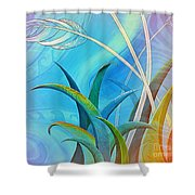 Flax Harakeke And Toetoe Shower Curtain