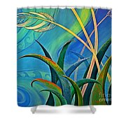 Flax Harakeke By Reina Cottier Shower Curtain