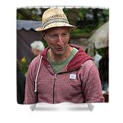 Flea Market Sales Man Shower Curtain