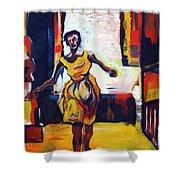 Fleeting Woman Shower Curtain