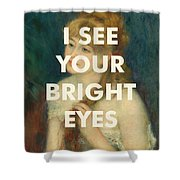 Fleetwood Mac Lyrics Print Shower Curtain
