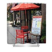 Flemington, Nj - Sidewalk Cafe Shower Curtain