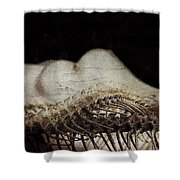 Flesh And Bone Suspended Shower Curtain