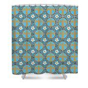 Fleur De Lis Pattern No. 2 Shower Curtain