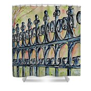 Fleur De Lisrod Iron Fence Shower Curtain