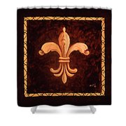 Fleur De Lys-king Charles Vii Shower Curtain