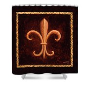 Fleur De Lys-king Louis Vii Shower Curtain