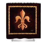 Fleur De Lys-king Louis Xv Shower Curtain