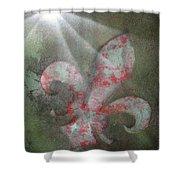 Fleur Di Lis Shower Curtain