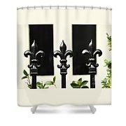 Fleur Di Lis Trio Shower Curtain
