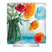 Fleur Primitiv Shower Curtain