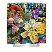Fleurs De Lys 02 Shower Curtain