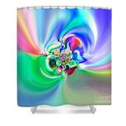 Flexibility 51a Shower Curtain