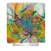 Flexibility 57abc Shower Curtain