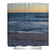 Flickering Lght Shower Curtain