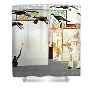 Flight From Reality Shower Curtain