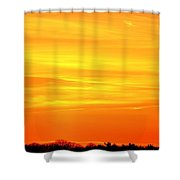 Flight Heading North  Shower Curtain