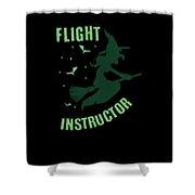 Flight Instructor Witch Halloween Costume Shower Curtain