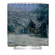 Flight Into Egypt Shower Curtain