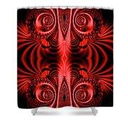 Flight Of Fancy Red Shower Curtain