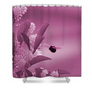 Flight Of Princess Bumble Bee Shower Curtain