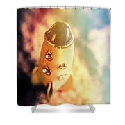 Flight Of Space Fiction Shower Curtain