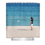Flight Of The Angel Shower Curtain