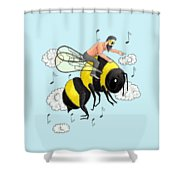 Flight Of The Bumblebee By Nicolai Rimsky Korsakov Shower Curtain