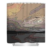 Flight Of The Gull Shower Curtain