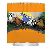 Flight Of The Horses Shower Curtain