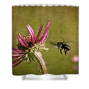 Flight Of The Mason Bee Shower Curtain