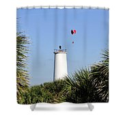 Flight Over Egmont Key Shower Curtain